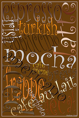 Graphic Coffee Poster by Andrew Fare