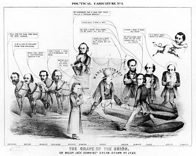 Grave Of The Union, 1864 Poster