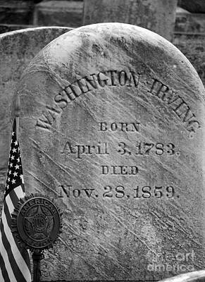 Grave Of Washington Irving Author Poster