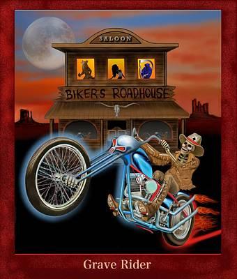 Grave Rider Poster by Glenn Holbrook