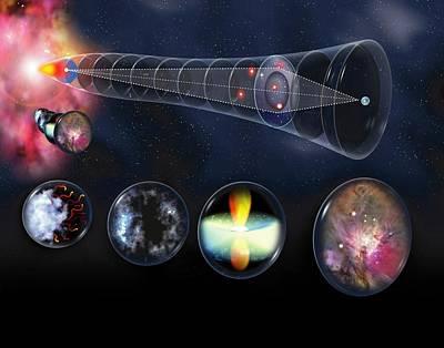 Gravitational Lens Poster by Jose Antonio PeÑas