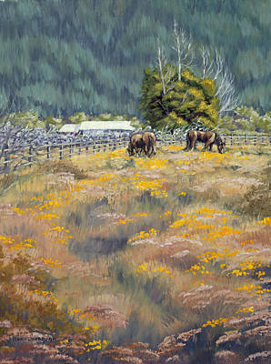 Poster featuring the painting Grazing by Kurt Jacobson