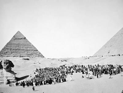 Great Sphinx And Pyramids Poster