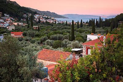 Greek Village  Poster