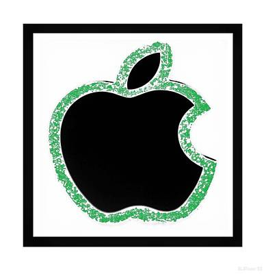 Green  Black Apple Poster by Rob Hans