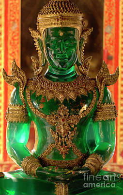 Green Buddha Poster by Bob Christopher