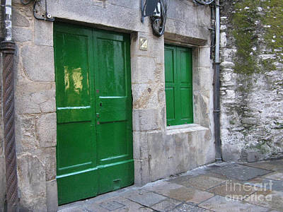Poster featuring the photograph Green Door by Arlene Carmel