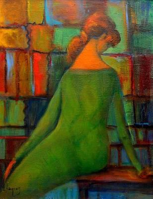 Green Dress Poster