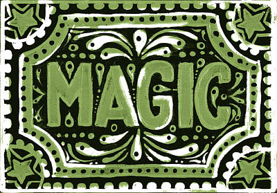 Poster featuring the painting Green Magic by Nada Meeks
