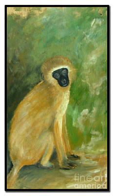 Green Monkey Poster