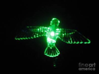 Green Neon In Flight Poster