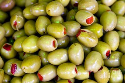 Green Olives Poster by Leslie Leda