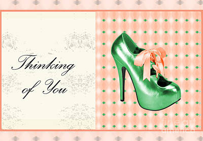 Green Shoe Thinking Of You Poster
