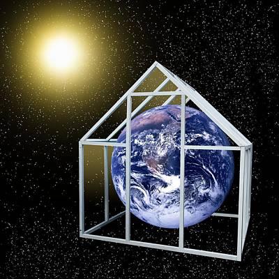 Greenhouse Effect, Conceptual Artwork Poster by Victor De Schwanberg