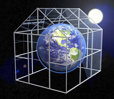 Greenhouse Effect, Conceptual Image Poster by Roger Harris
