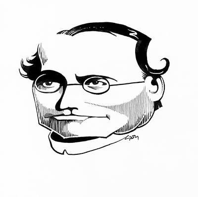 Gregor Mendel, Caricature Poster by Gary Brown