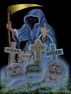 Grim X-factor Poster by Glenn Holbrook