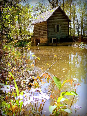 Grist Mill Pond Levi Jackson Poster by Cindy Wright
