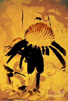 Grunge  Daisy Art Poster