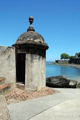 Guard Post Castillo San Felipe Del Morro San Juan Puerto Rico Poster by Shawn O'Brien