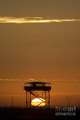 Guard Tower At Sunset Poster by Terry Moore