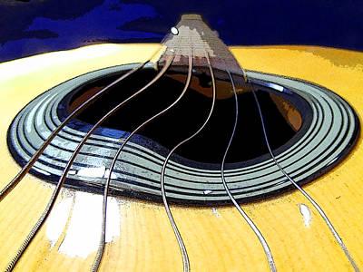 Guitar Warp Poster by Anne Mott