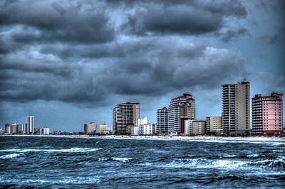Gulf Shores From The Pier Poster by Michael Thomas