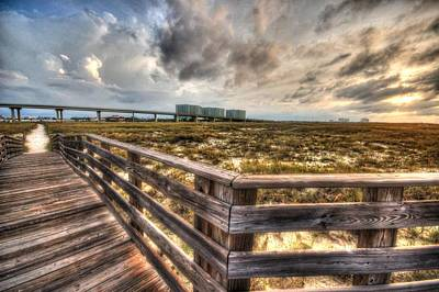 Gulf State Park Boardwalk Corner Poster by Michael Thomas