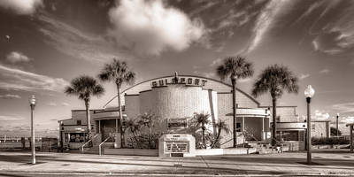Gulfport Casino In Sepia Poster by Tammy Wetzel