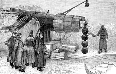 Gun Electromagnet, 19th Century Poster