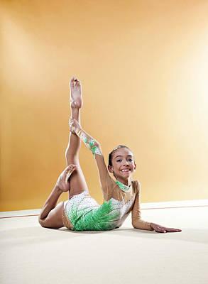 Gymnast, Smiling, Bending Backwards, Floor, Poster by Emma Innocenti