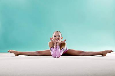 Gymnast, Smiling, Side Split, Head On Hands Poster by Emma Innocenti