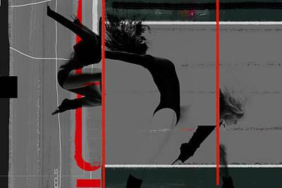 Gymnastics Poster by Naxart Studio