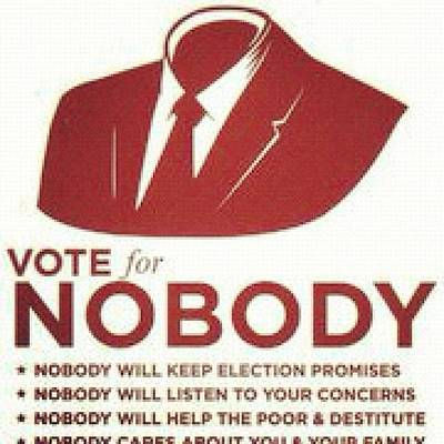 #haha #politics #vote #nobody #anarchy Poster