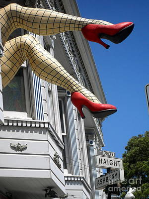Poster featuring the photograph Haight And Ashbury by Beth Saffer
