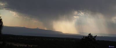 Hail Storm And Glory Over Ghost Ranch New Mexico Poster