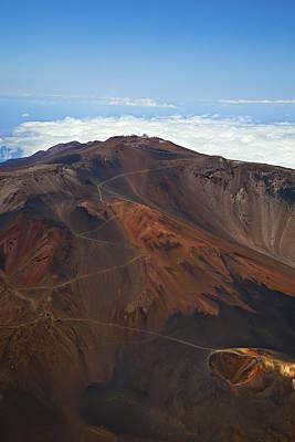 Haleakala Crater Aerial Poster