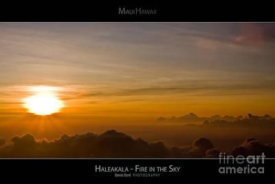 Haleakala Sunset - Fire In The Sky - Maui Hawaii Posters Series Poster