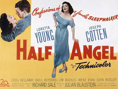 Half Angel, Joseph Cotten, Loretta Poster