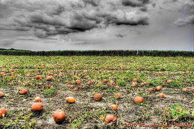 Halloween On Johnson's Corner Farm Poster