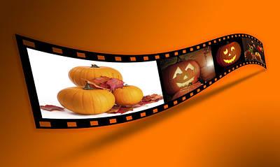Halloween Pumpkin Film Strip Poster