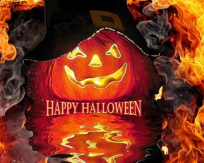 Halloween Pumpkin Poster by Rick Friedle