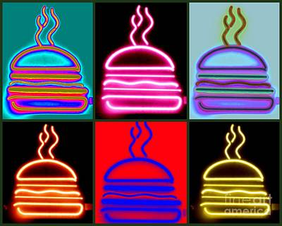 Poster featuring the photograph Hamburgers  by France Laliberte