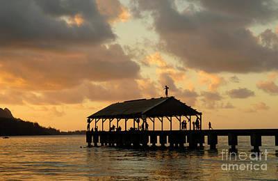 Hanalei Pier Kauai 1 Poster by Bob Christopher