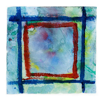 Hand Painted Square Frame   Poster