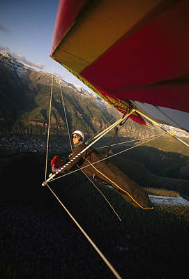 Hang Glider Over Telluride, Colorado Poster by Skip Brown