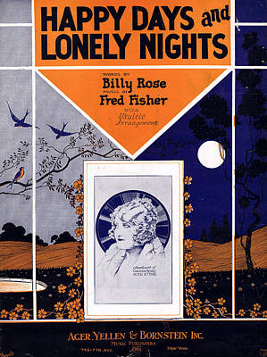 Happy Days And Lonely Nights Poster by Mel Thompson