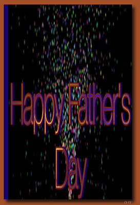 Happy Fathers Day Card Poster
