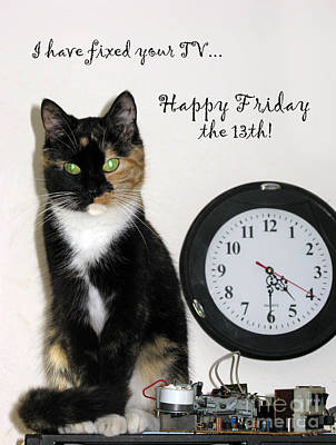 Poster featuring the photograph Happy Friday The 13th by Ausra Huntington nee Paulauskaite