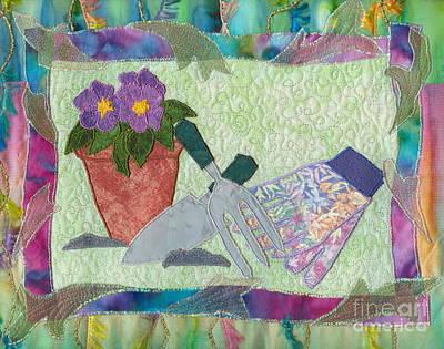 Happy Gardening Poster by Denise Hoag